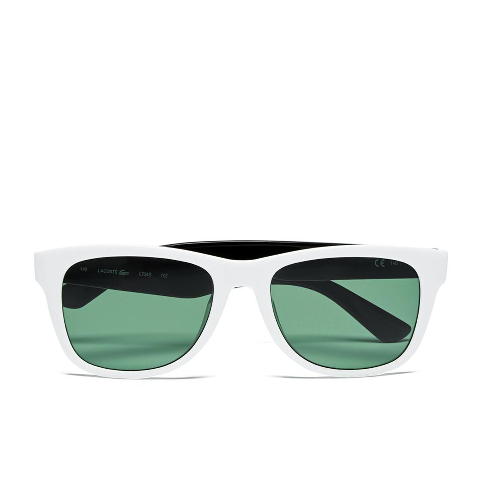 0cf46a686fe57 Lacoste Unisex Wayfarer Sunglasses - White Lacoste Unisex Wayfarer  Sunglasses - White