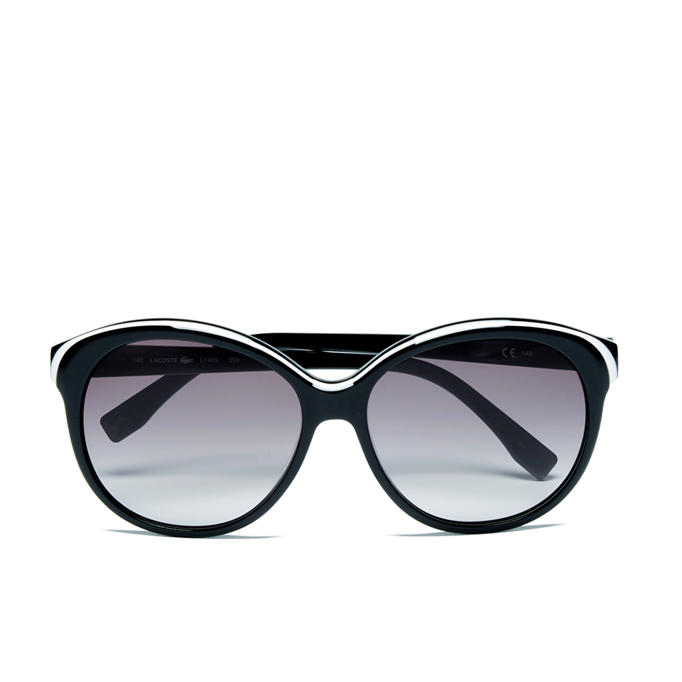 7b1be94aa23c Lacoste Women s Round Sunglasses - White Black - Free UK Delivery ...