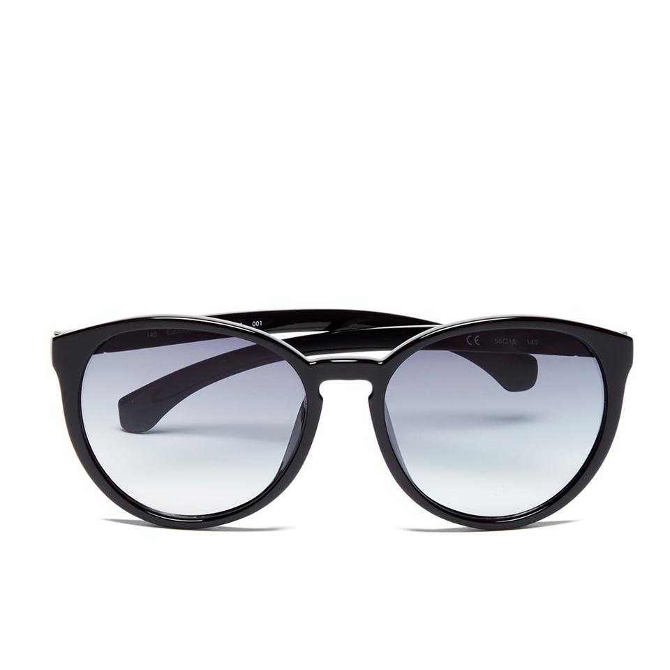 8bb5814e2 Calvin Klein Jeans Women's Round Sunglasses - Black