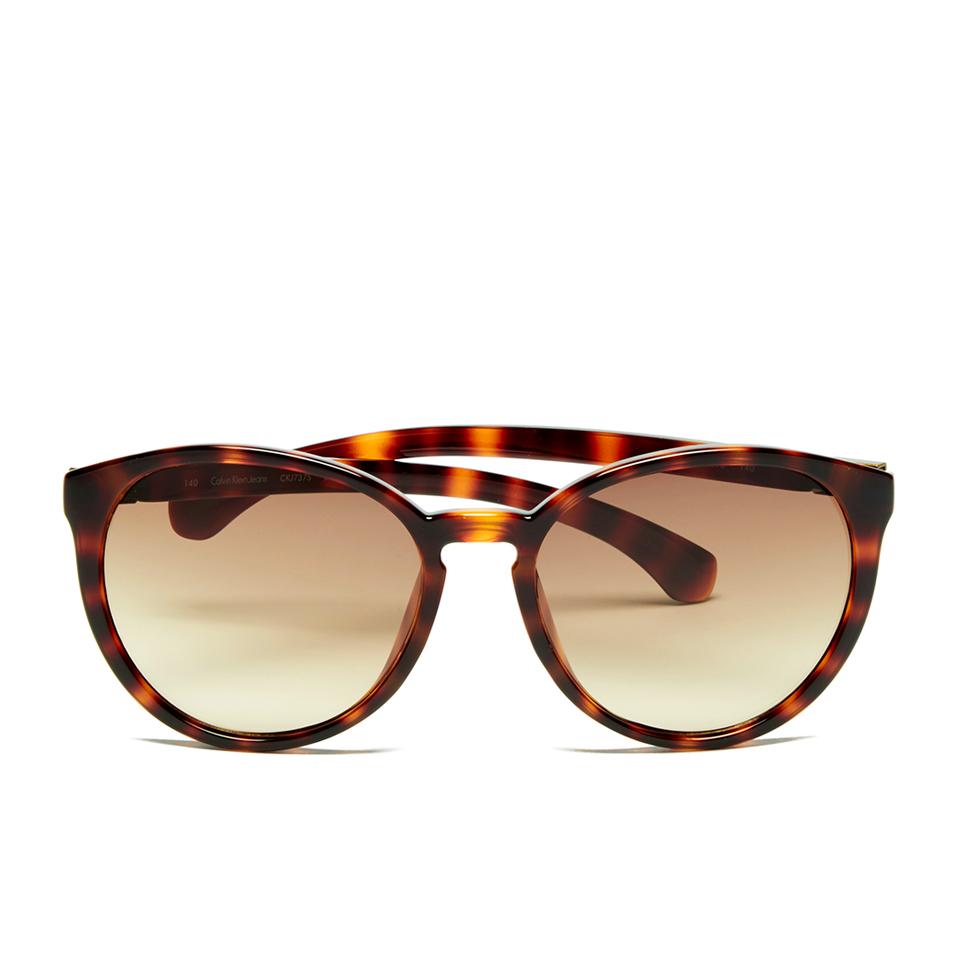6192bb448 Calvin Klein Jeans Women's Round Sunglasses - Warm Tortoise - Free ...