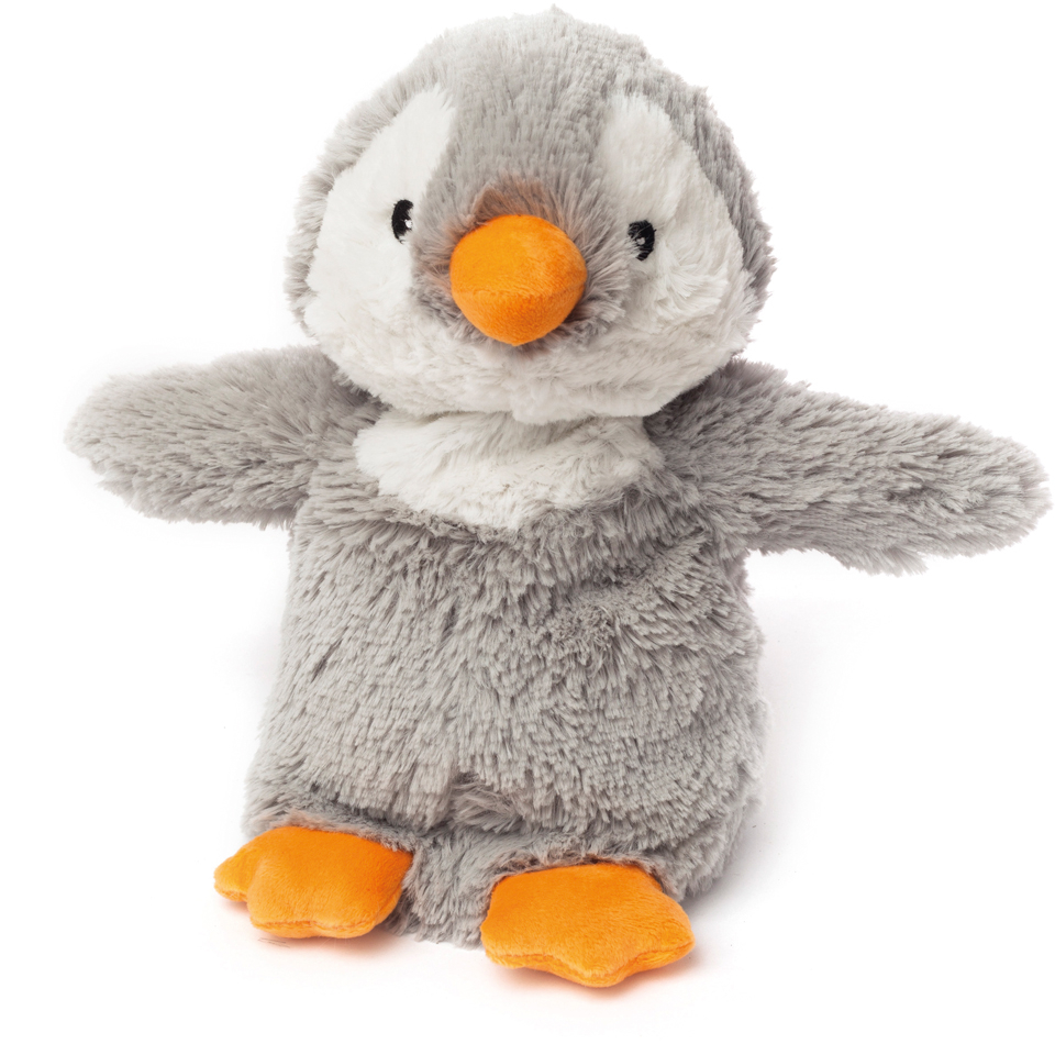 Cozy Heatable Plush Grey Penguin