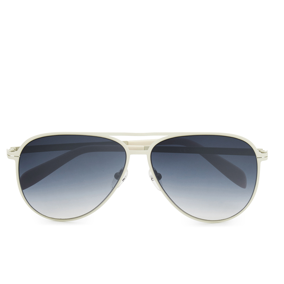 948cd5a132d4 Calvin Klein Platinum Unisex Aviator Sunglasses - Ivory - Free UK Delivery  over £50