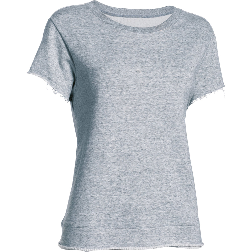 Under armour women 39 s studio boxy crew t shirt grey for Gray under armour shirt
