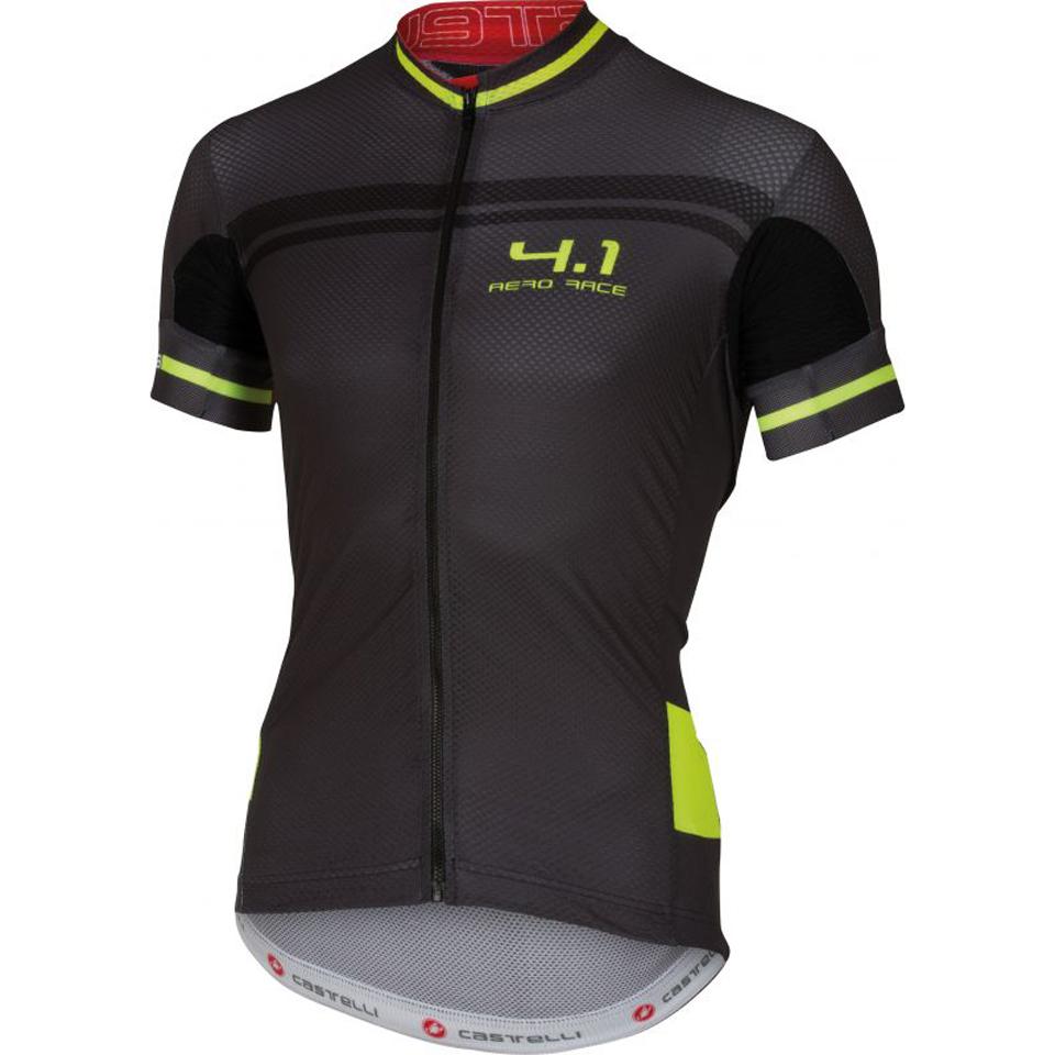 Castelli Free AR 4.1 Short Sleeve Jersey - Black Yellow  86ae05530