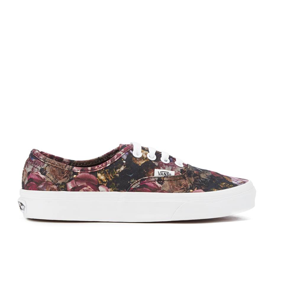 d022863b0b8f19 ... Vans Women s Authentic Floral Trainers - Moody Floral Black True White