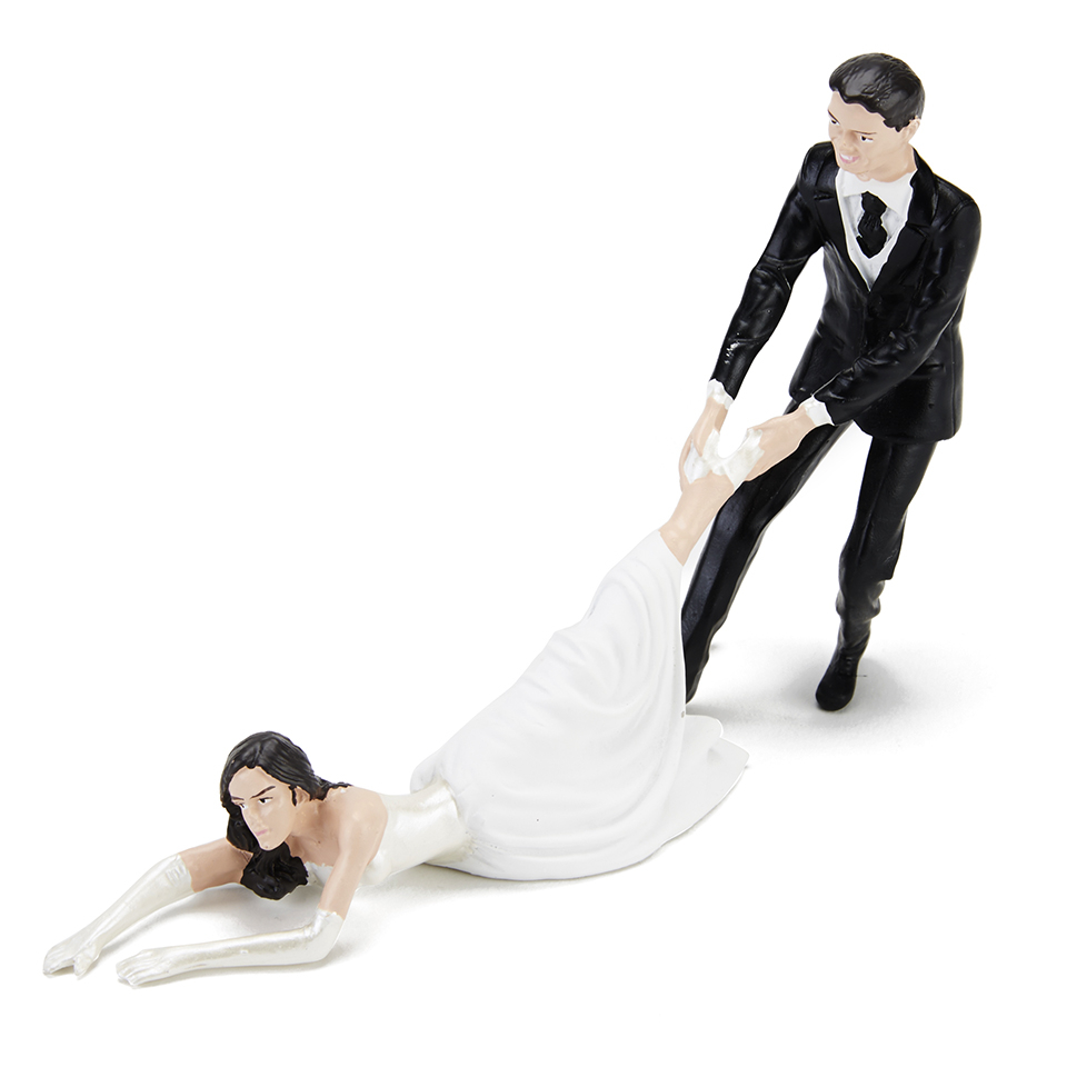 Gifts For Pre Wedding Bride: Reluctant Bride Cake Topper Gifts