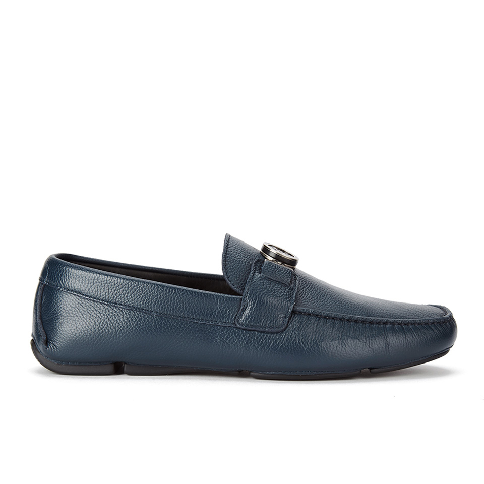 3724f83d Versace Collection Men's Leather Driving Shoes - Blue