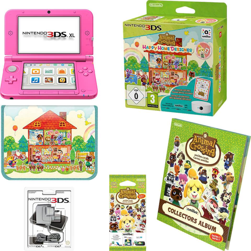Nintendo 3ds Xl Pink Animal Crossing Happy Home Designer Pack Nintendo Uk Store