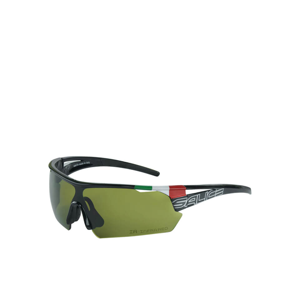 Salice 006 ITA Sports Sunglasses - Black/Infrared