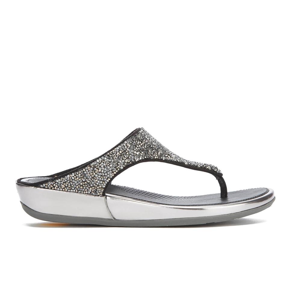 bc49125430d38 FitFlop Women s Banda Roxy Toe-Post Sandals - Pewter Womens Footwear ...