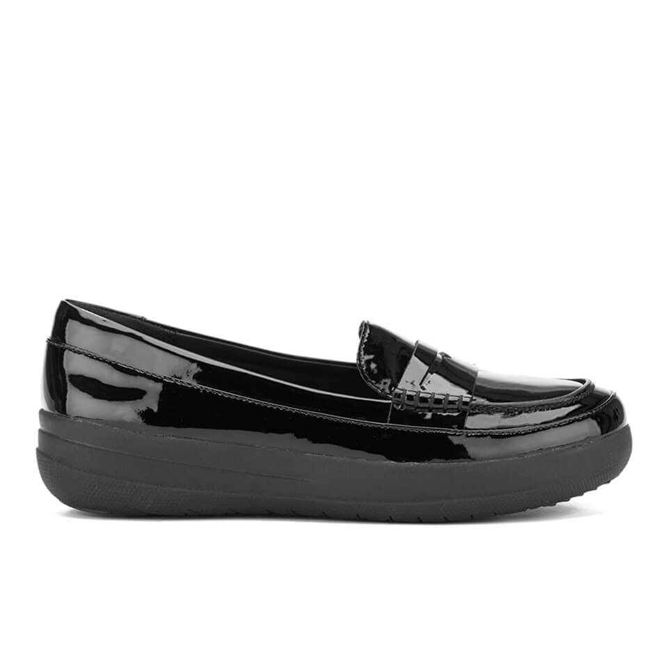 92c6ca6aa3f FitFlop Women s F-Sporty Patent Penny Loafers - Black Womens ...