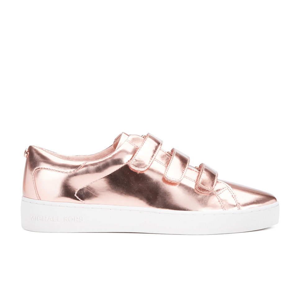 michael michael kors women 39 s craig velcro cupsole trainers rose gold free uk delivery allsole. Black Bedroom Furniture Sets. Home Design Ideas