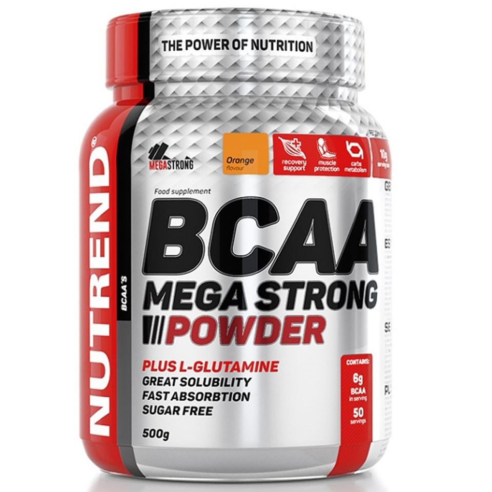 Nutrend BCAA Mega Strong Powder - Orange 300g