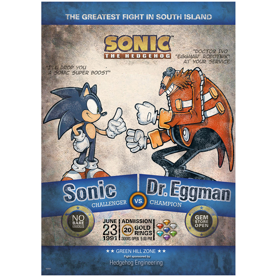 Sonic 25th Anniversary Limited Edition Art Print - 16.5 x 11.7 Inches