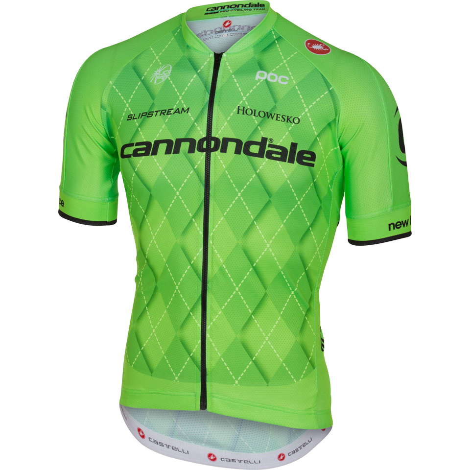 Castelli Cannondale Pro Cycling Team 2.0 Short Sleeve Jersey - Green ... d5425c50d