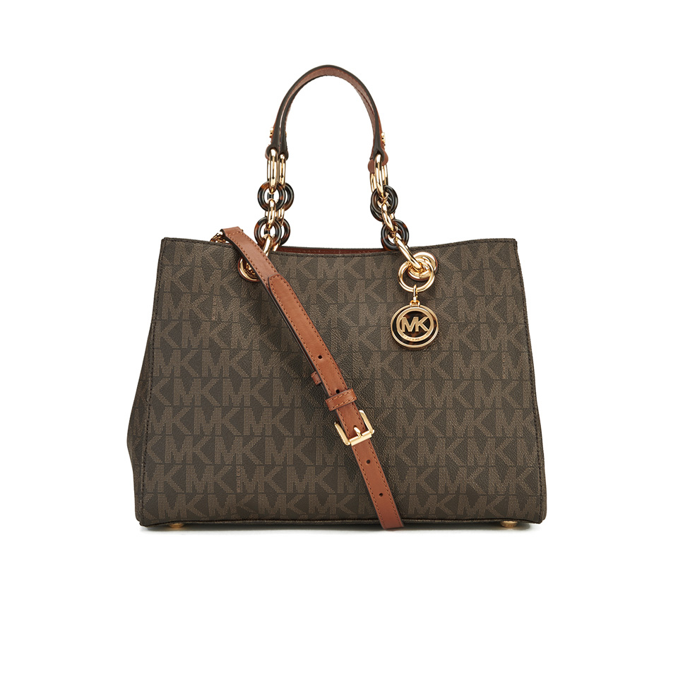 a90f0d21cd48 MICHAEL MICHAEL KORS Cynthia Medium Satchel - Brown - Free UK ...