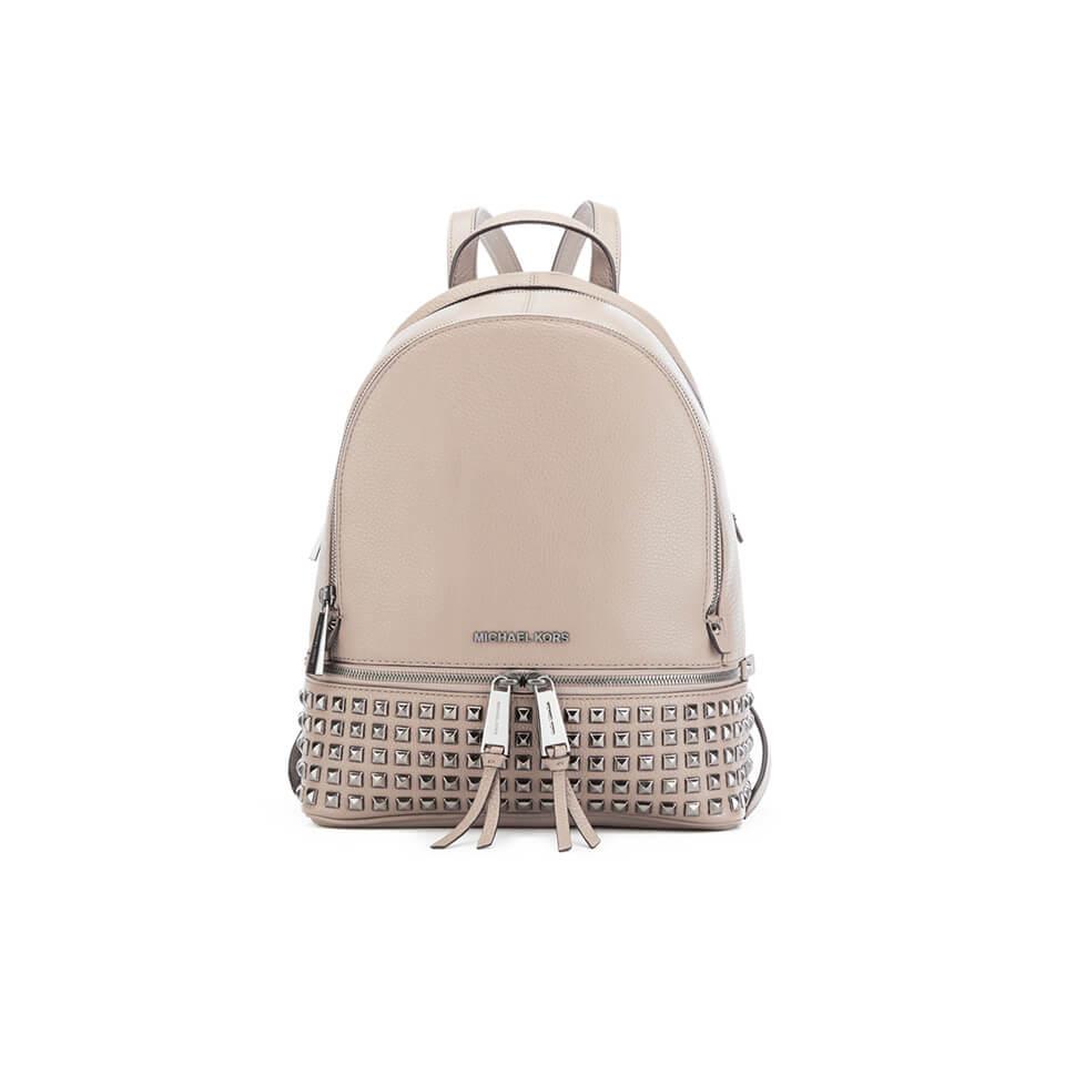 57437ea1220e MICHAEL MICHAEL KORS Rhea Zip Stud Backpack - Grey - Free UK ...