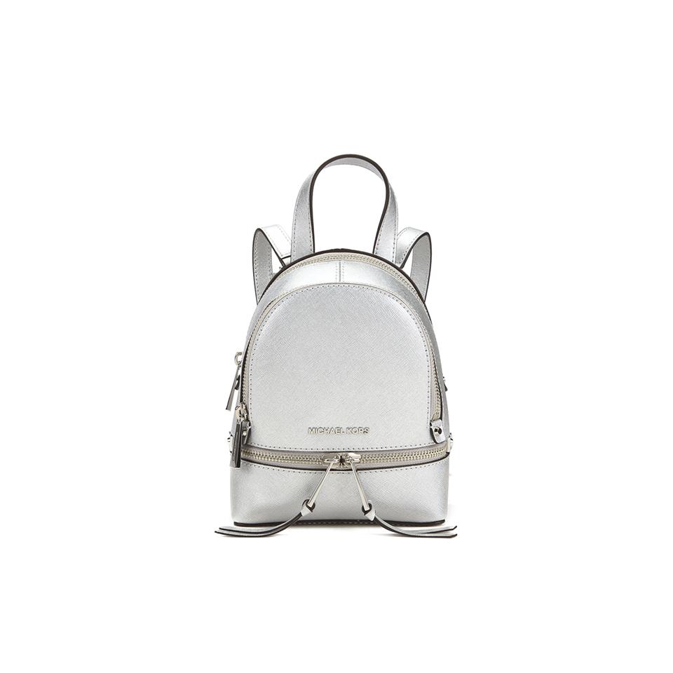 88880e3793173 MICHAEL MICHAEL KORS Rhea Zip Small Crossbody Backpack - Silver ...