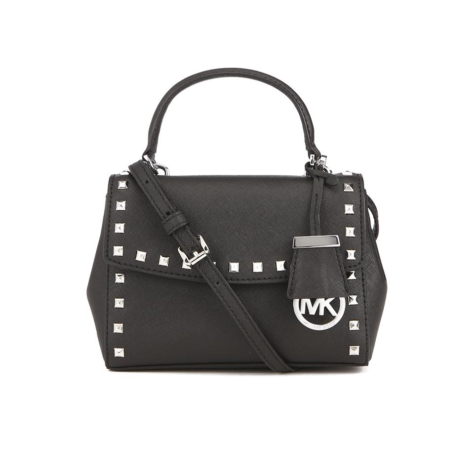 23ccfa80bca0 MICHAEL MICHAEL KORS Ava Stud Mini Crossbody Bag - Black - Free UK ...