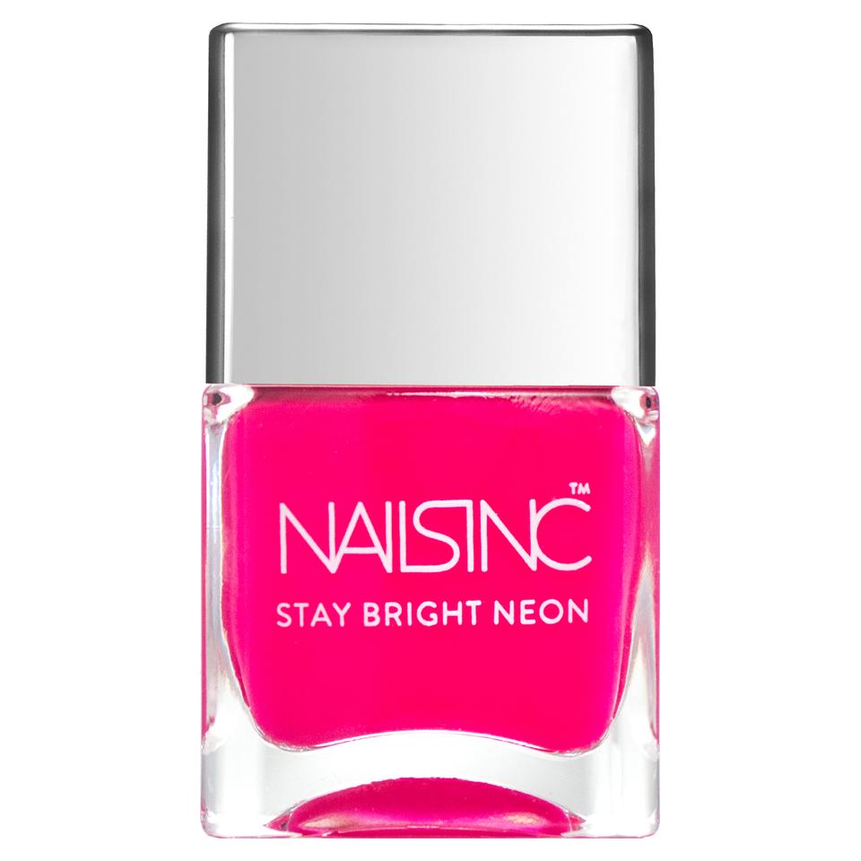 Nails Inc Claridge Gardens Nail Polish Neon Pink 14ml Free Shipping Lookfantastic