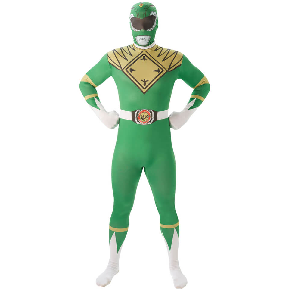 Power Rangers Men S 2nd Skin Green Ranger Fancy Dress