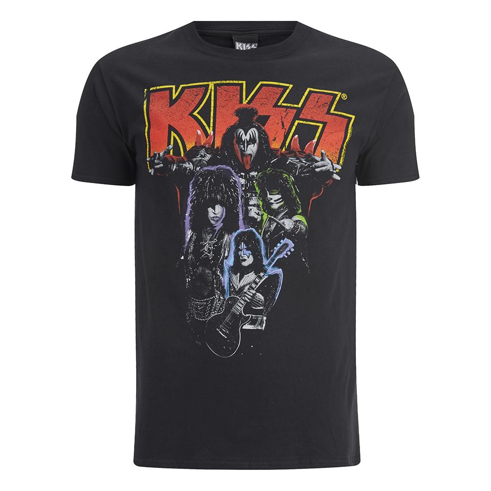 Kiss heren t shirt zwart for T shirt printing franchise