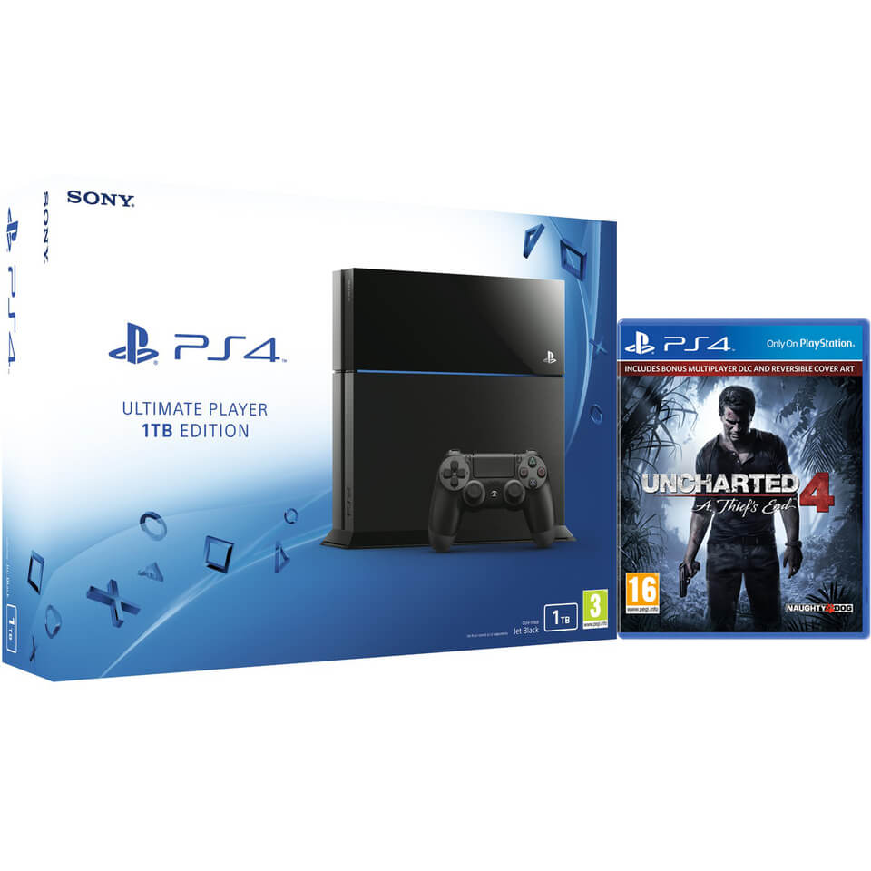 Sony PlayStation 4 1TB Console - Includes Uncharted 4: A Thief's End. Description