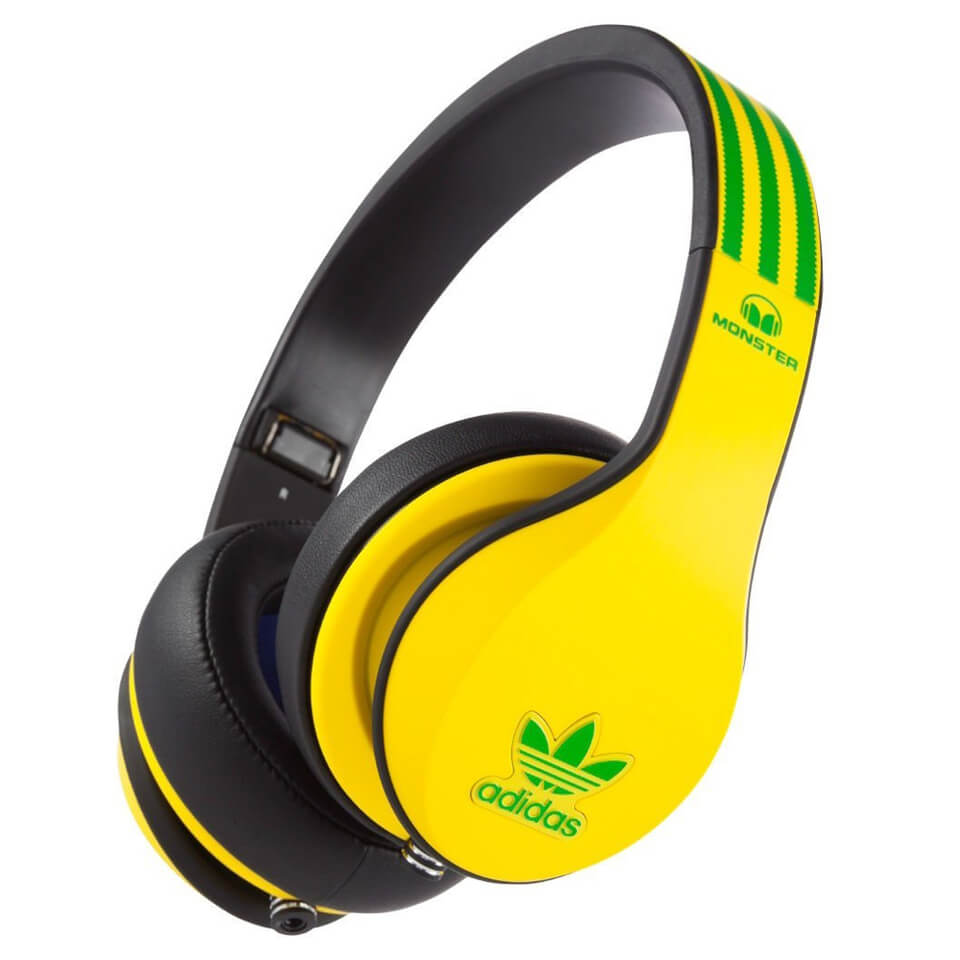 Monster adidas Originals Over the Ear Headphones GreenRedWhite