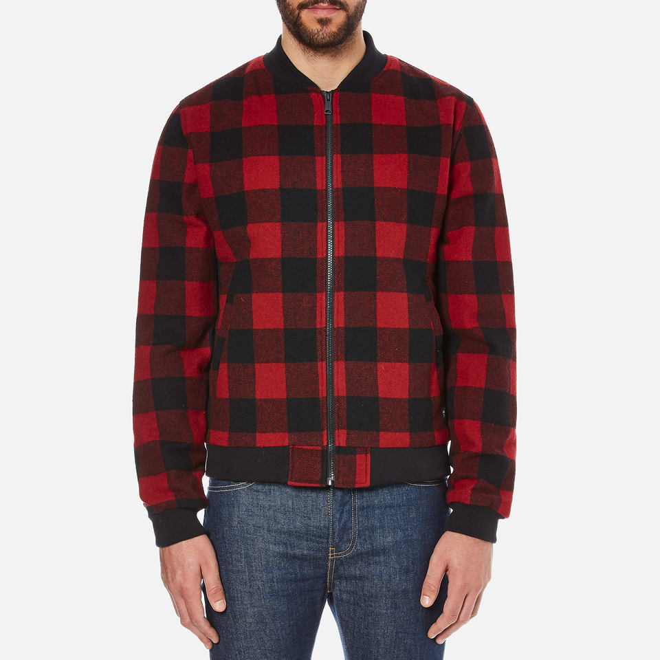 Penfield men 39 s glendale buffalo plaid jacket red for Plaid shirt jacket mens