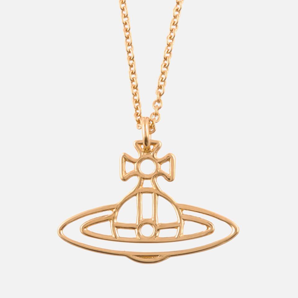 5bc310b31b4f51 ... Vivienne Westwood Jewellery Women's Thin Lines Flat Orb Pendant - Gold