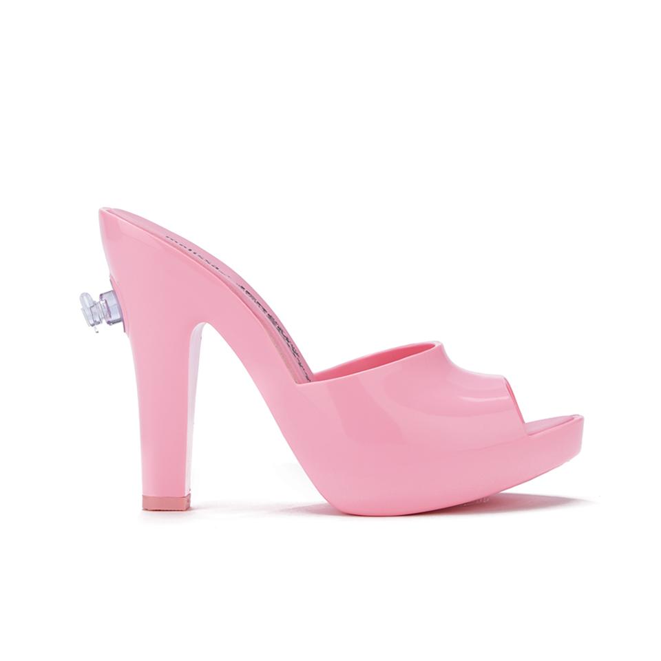 premium selection b956e be7b0 ... Jeremy Scott for Melissa Women s Inflatable Heeled Mules - Bubblegum  Pink