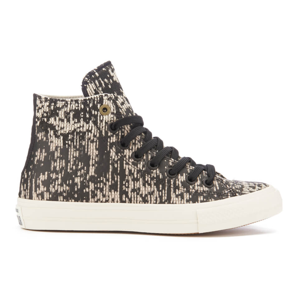 4ea1bf5fcf8 Converse Men s Chuck Taylor All Star II Translucent Rubber Hi-Top Trainers  - Black Buff Fatigue Green - Free UK Delivery over £50