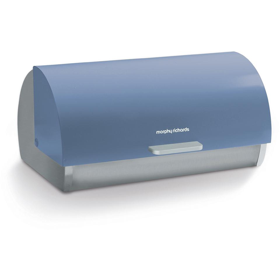 Morphy Richards 974002 Bread Bin Roll Top Cornflower Blue Homeware ...