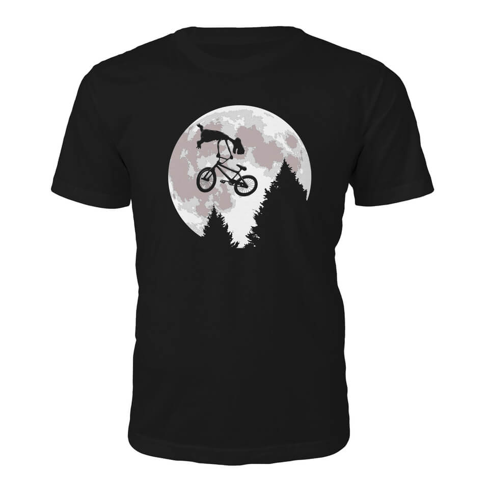 d9ede4d09705 Tee Junkie Mens Alien Moon T-Shirt - Black Merchandise   Zavvi