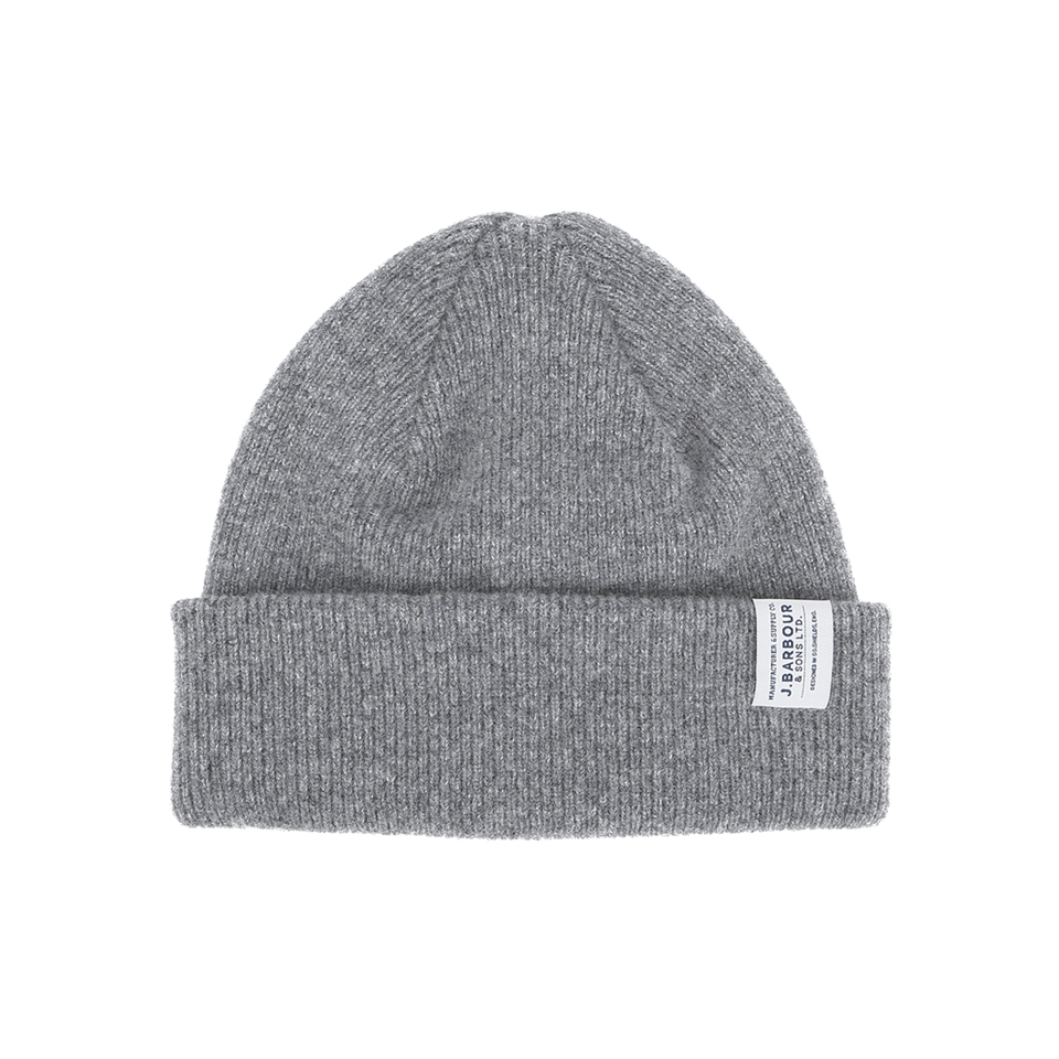 Barbour Men S Lambswool Watch Cap Beanie Grey Mens