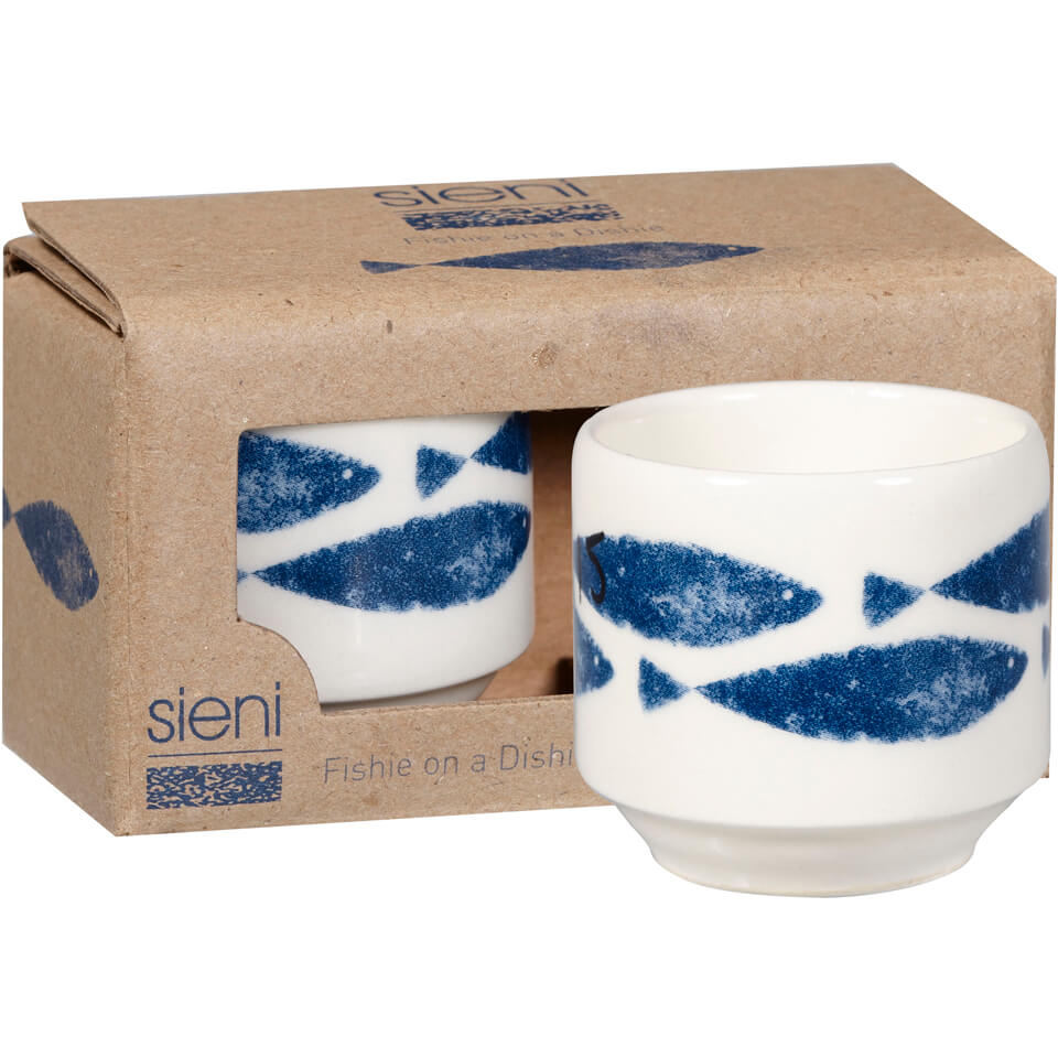Sieni Fishie On A Dishie Egg Cup Set Gift Box Homeware Zavvi