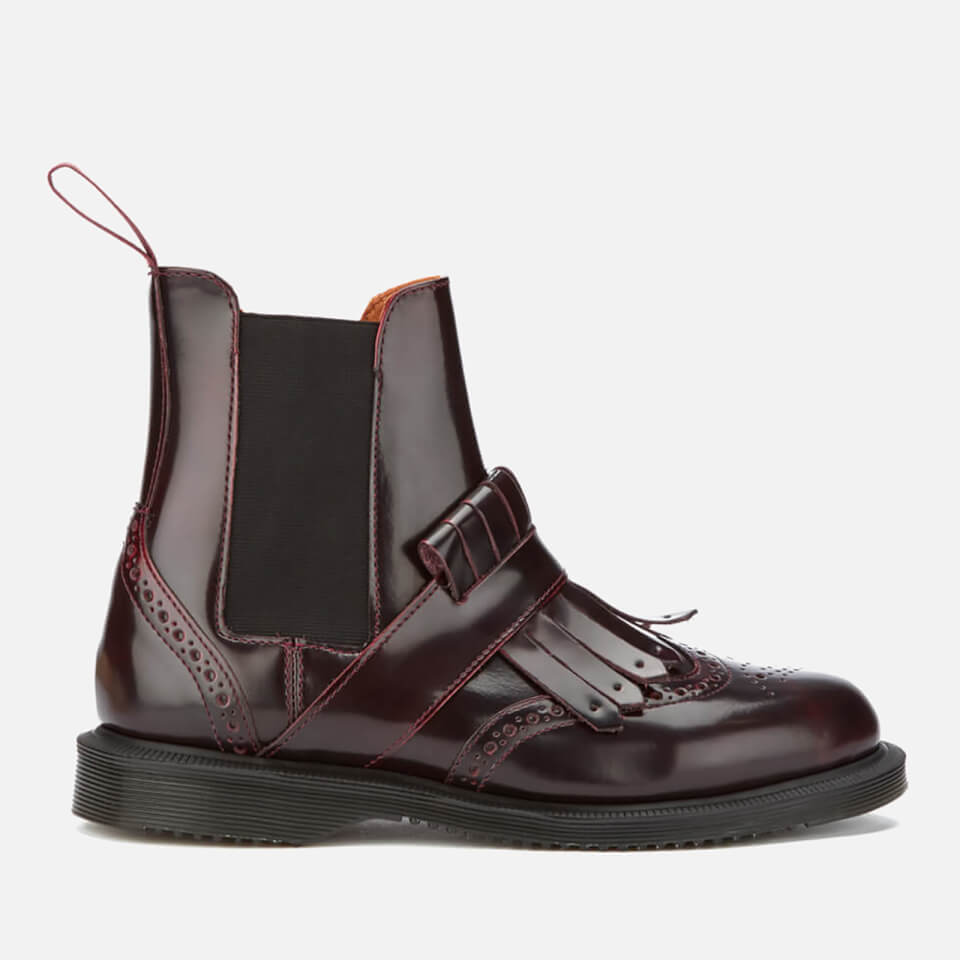 dr martens women 39 s tina arcadia leather kiltie chelsea boots cherry red free uk delivery. Black Bedroom Furniture Sets. Home Design Ideas