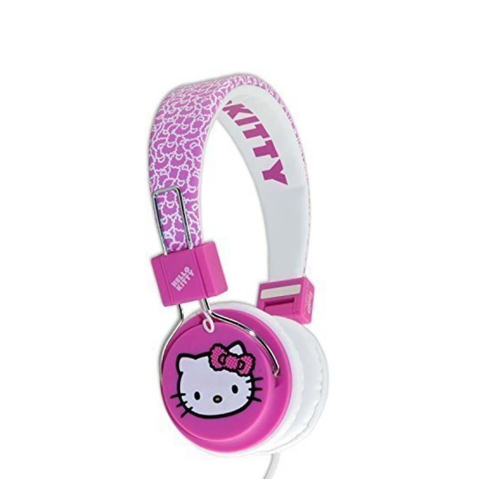 Hello Kitty Folding On-Ear Headphones - Fuzzy Bow