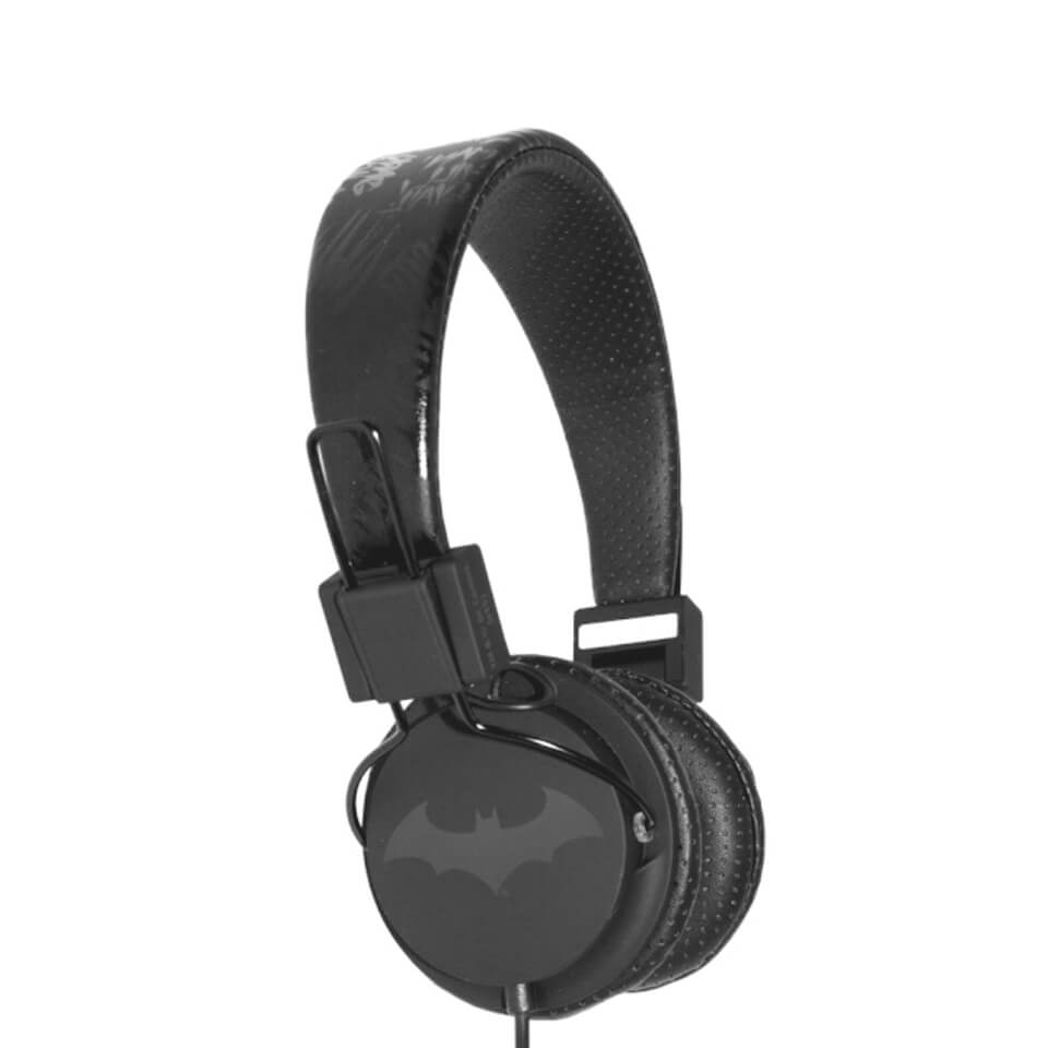 Batman The Dark Knight Folding On-Ear Headphones - Black Logo
