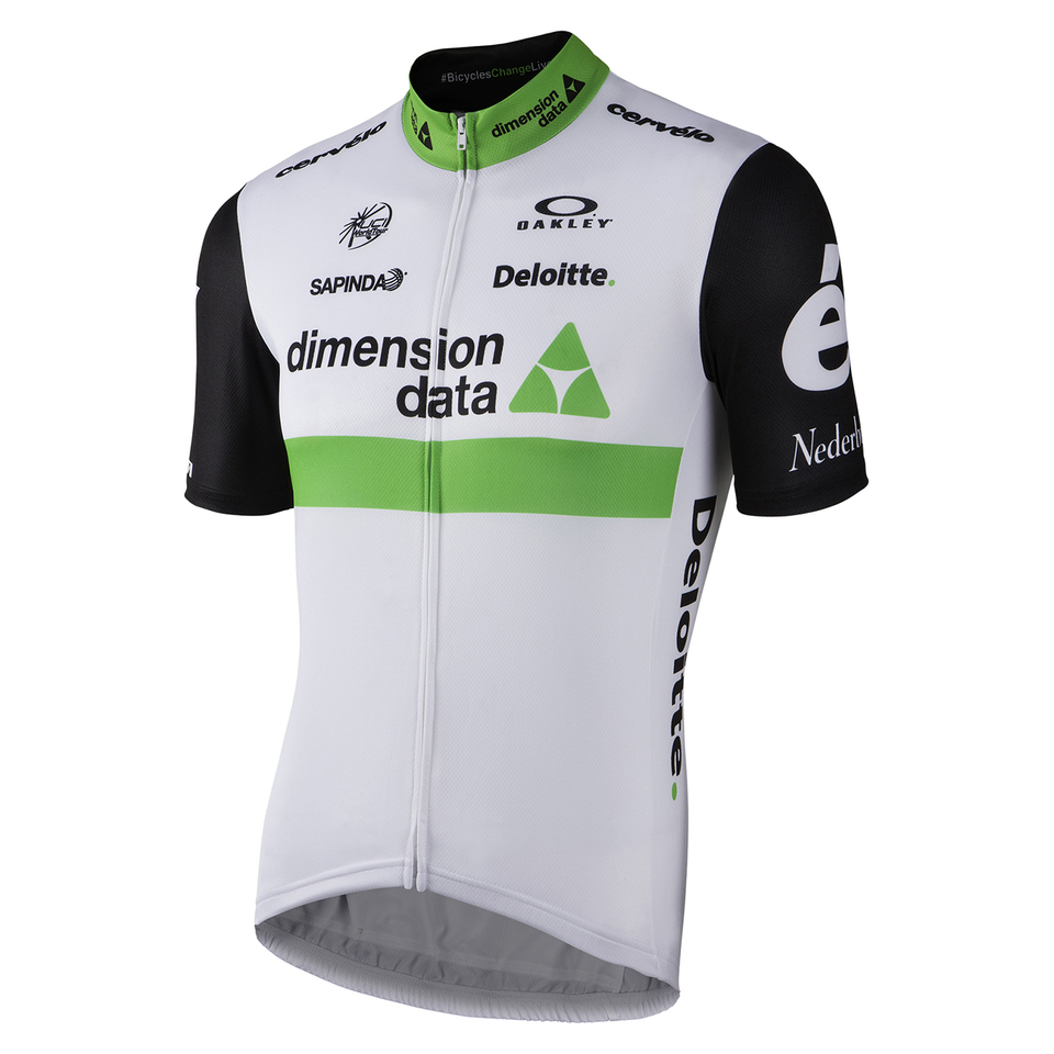 Nalini Dimension Data Short Sleeve Jersey - Black White  2eed4b41a
