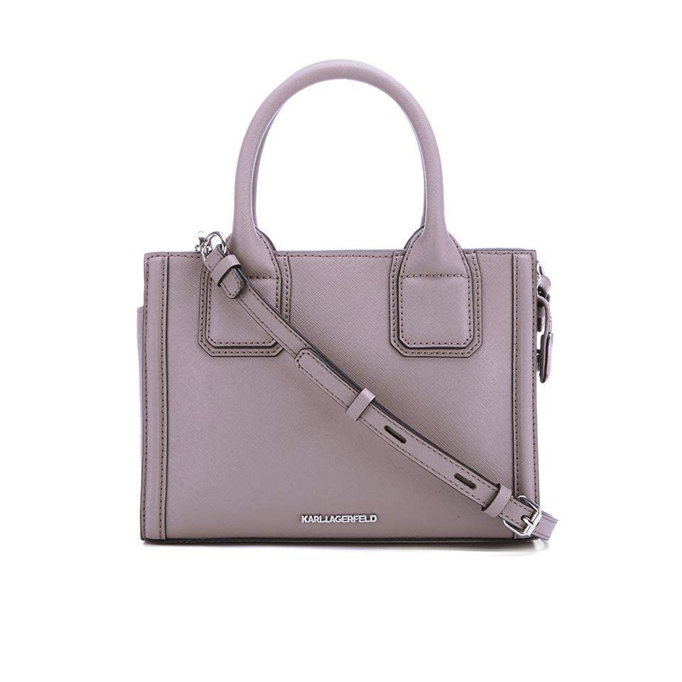 e3b7c04661cd Karl Lagerfeld Women s K Klassik Mini Tote Bag - Rosy Brown - Free ...