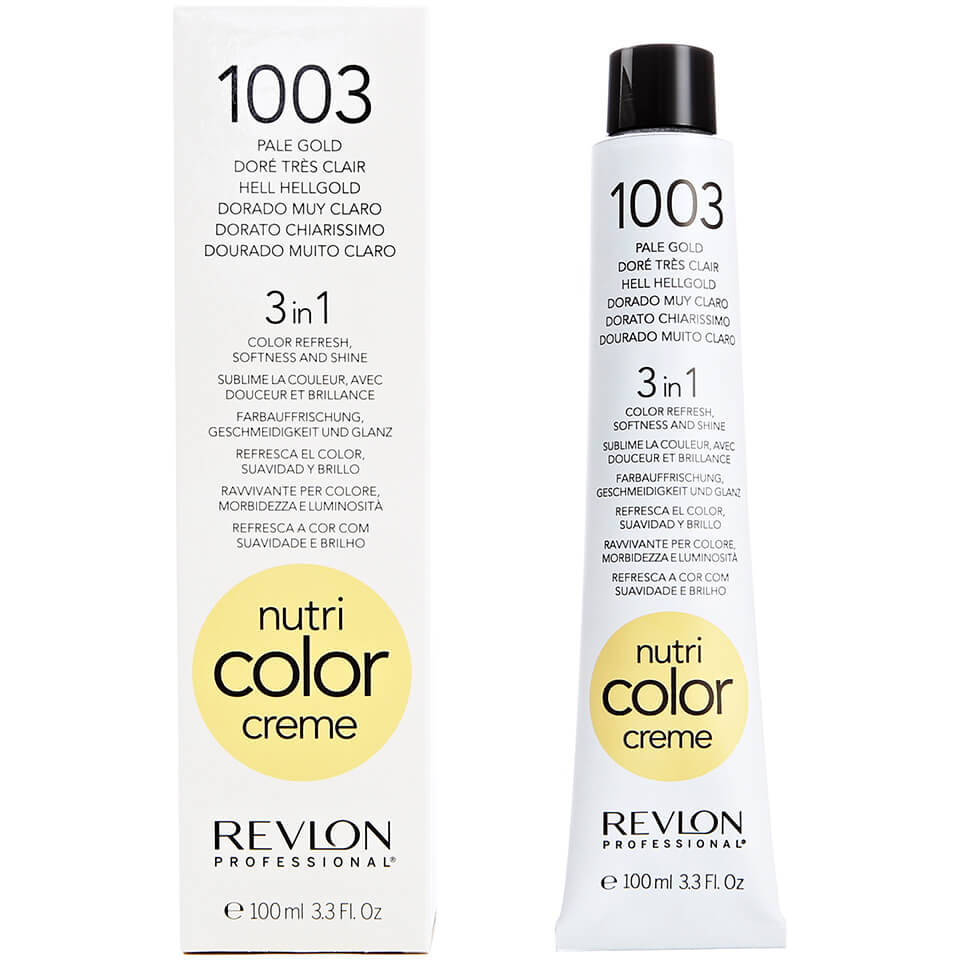 Revlon Professional Nutri Color Creme 1003 Pale Gold 100ml   Free Shipping    Lookfantastic 4e98522b74
