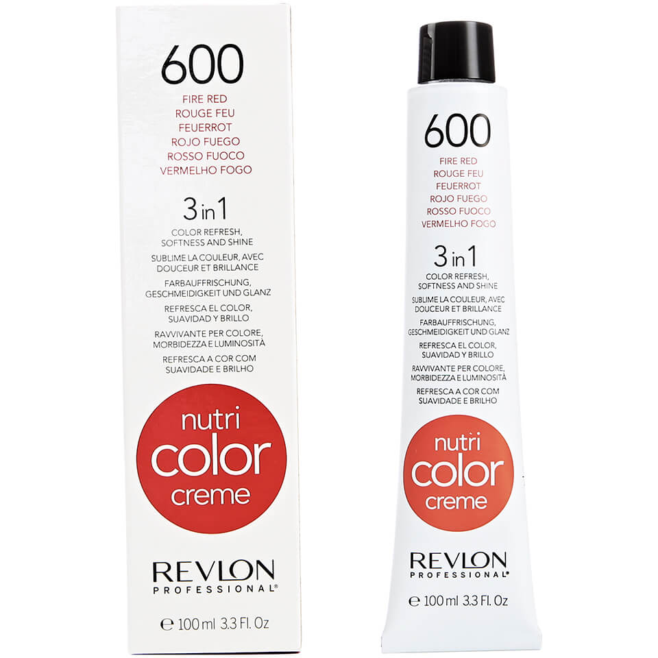 Revlon Professional Nutri Color Creme 600 Fire Red 100ml Free