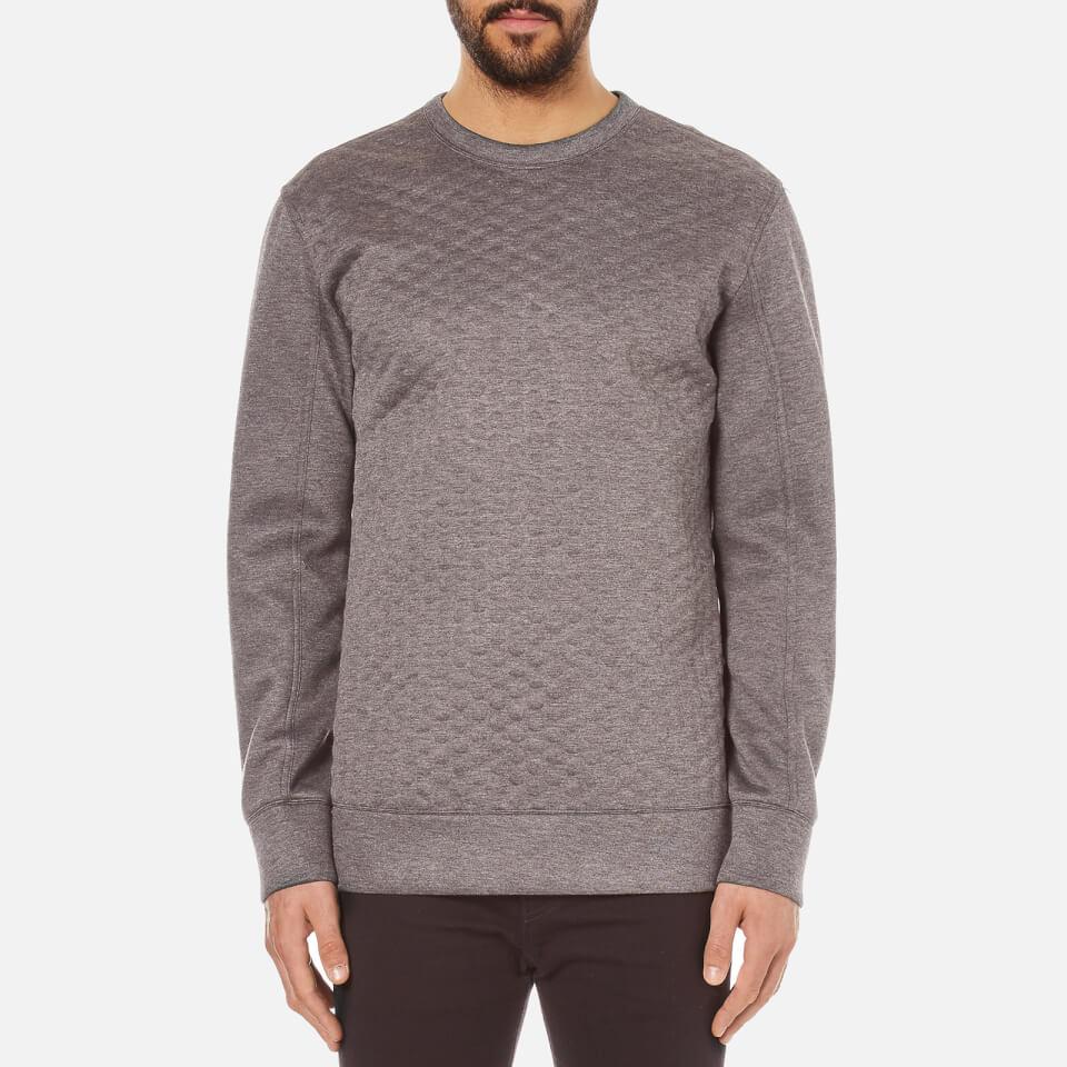 Helmut lang men 39 s embossed jersey sweatshirt grey free - Sweatshirt kleid lang ...