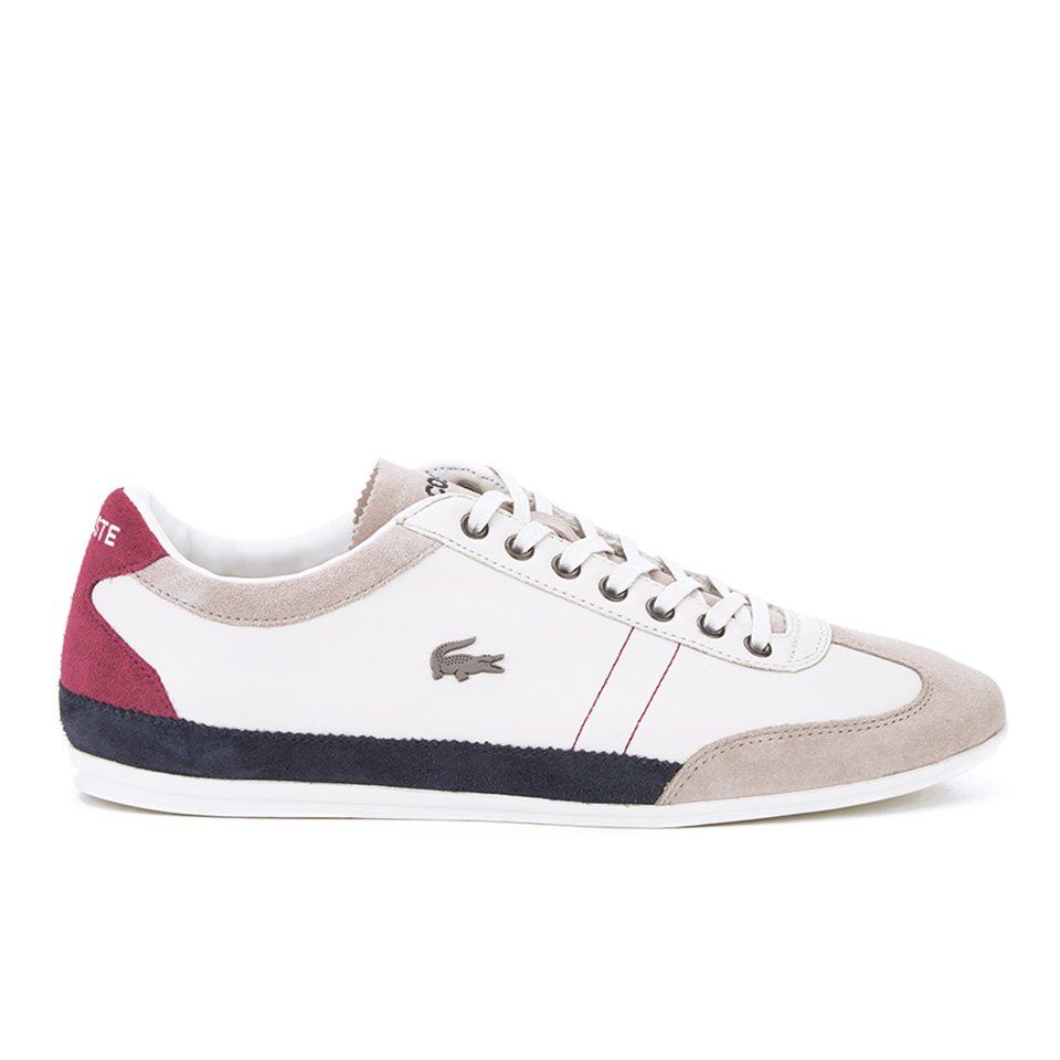 e39917028cadb7 Lacoste Men s Misano 15 LCR SRM Trainers - Off White Blue Red - Free ...