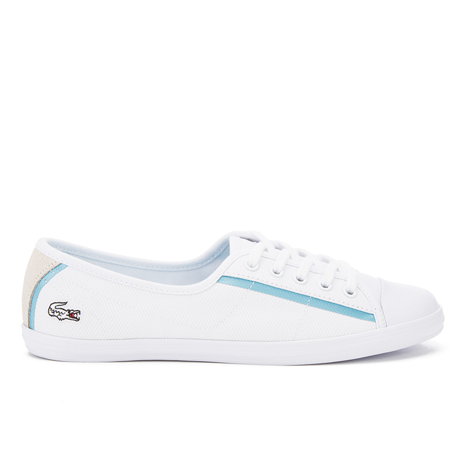 ce18a525366a Lacoste Women s Ziane 116 1 SPW Canvas Plimsolls - White - Free UK ...