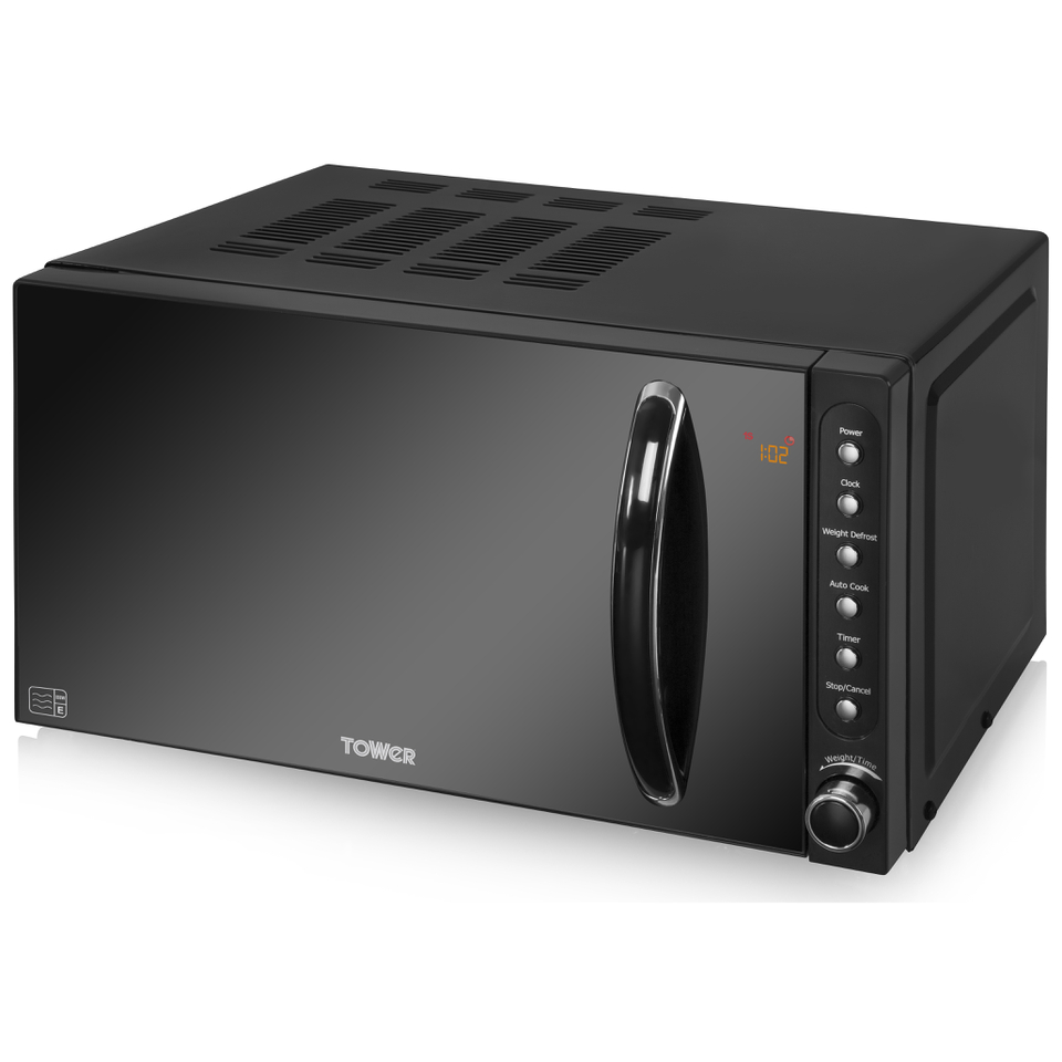 Tower T24008 800W Digital Microwave - Black