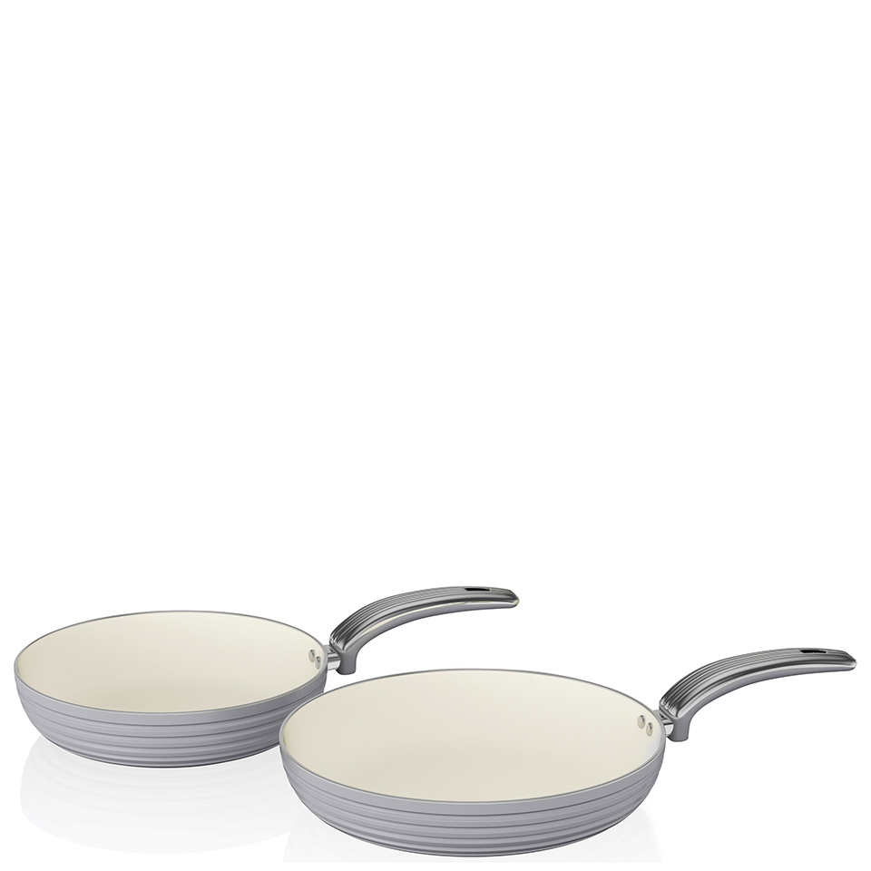 Swan Retro Frying Pans - Grey (20cm/28cm)