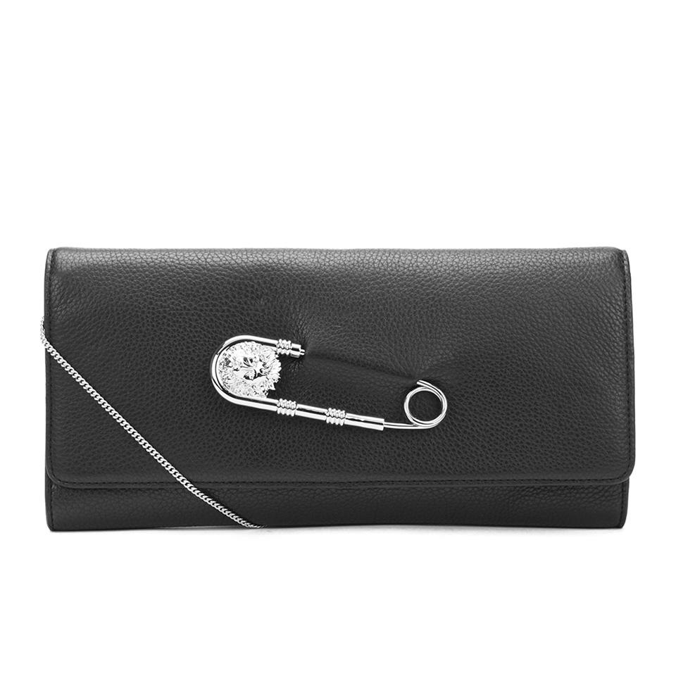 6c15a7f5 Versus Versace Women's Clutch Bag - Black/Nickel
