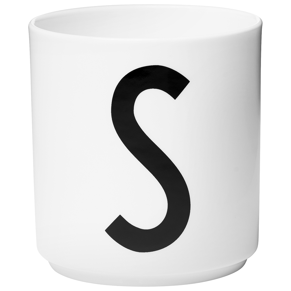 Design letters porcelain cup s sowia for Kuchenzubehor design